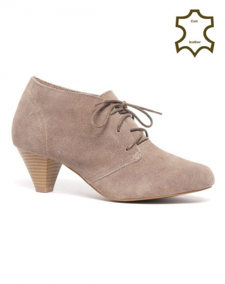 Chaussure femme Bellucci: Richelieu Cuir kaki