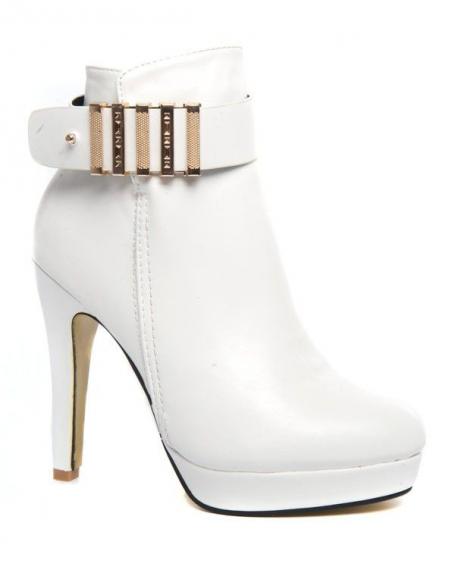 Chaussure femme blanche Jennika talon haut