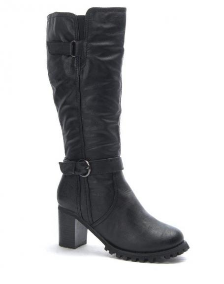 Chaussure femme Dazawa: Batte à talon noire