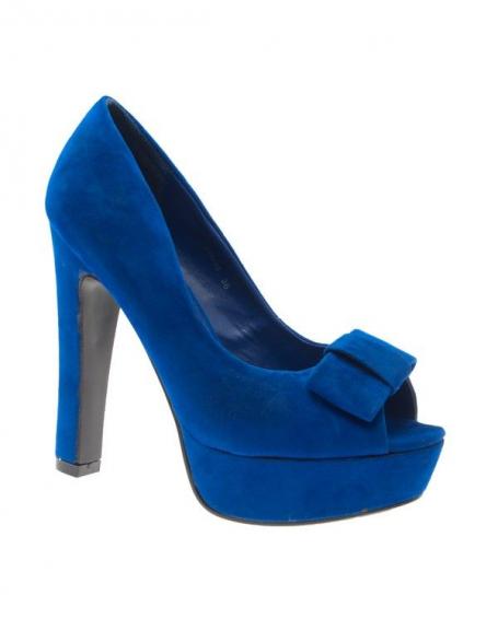 Chaussure femme: Escarpin bleu