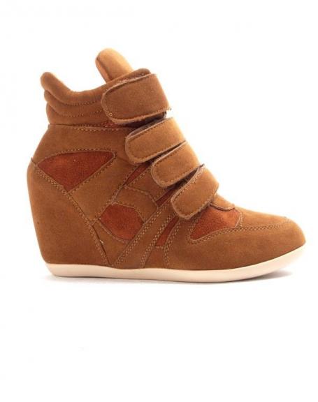 Chaussure femme Findlay: Basket compensé orange