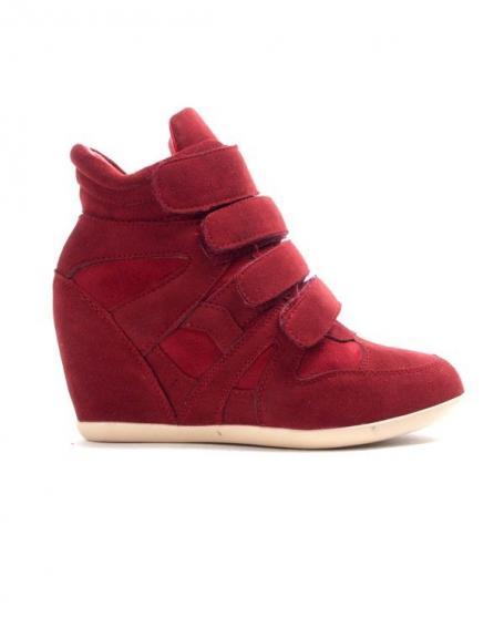 Chaussure femme Findlay: Basket compensé rouge