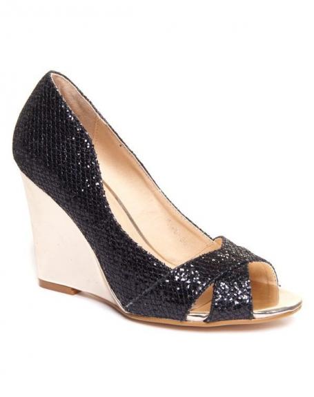Chaussure femme Findlay: Sandales compensées noires