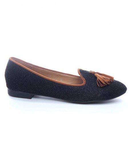 Chaussure femme Ideal: Ballerines noires