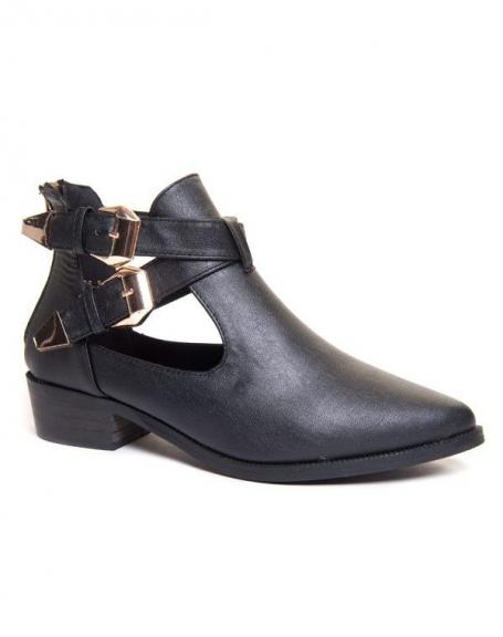 Chaussure femme Ideal: Bottines ajourées noires