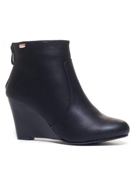 Chaussure femme Ideal: Bottines compensés noires