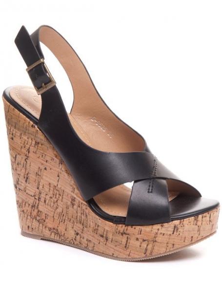 dc662ff7a00 Chaussure femme Ideal: Compensé a talon en bois