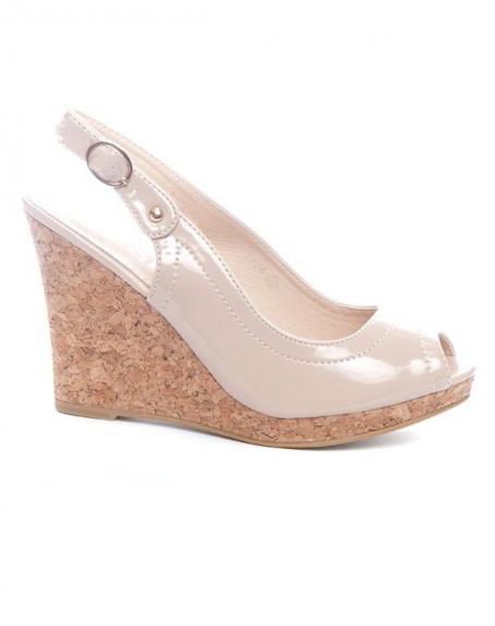 Chaussure femme Ideal: Escarpins ouverts beiges