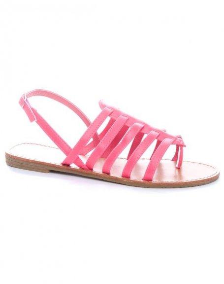 Chaussure femme Ideal: Sandales fuchsia
