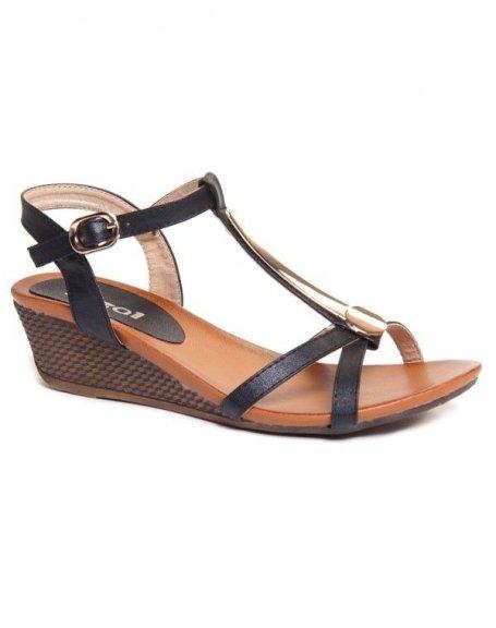 Chaussure femme Ideal : Sandales noires