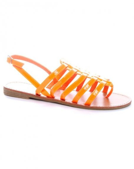 Chaussure femme Ideal: Sandales oranges
