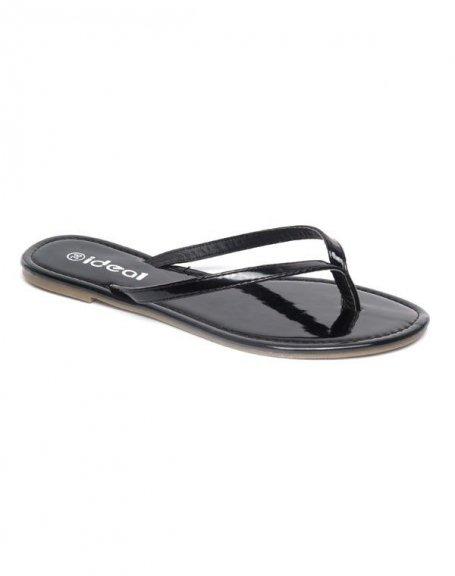 Chaussure femme Ideal: Tong noir