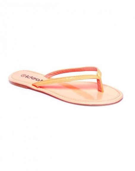 Chaussure femme Ideal: Tong rose (corail)