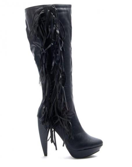 Chaussure femme Jennika: Botte à talon bleu