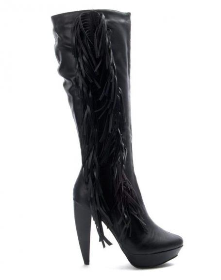 Chaussure femme Jennika: Botte à talon noire