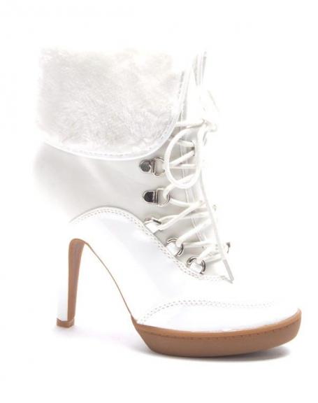 Chaussure femme Jennika: Botte fourré blanc
