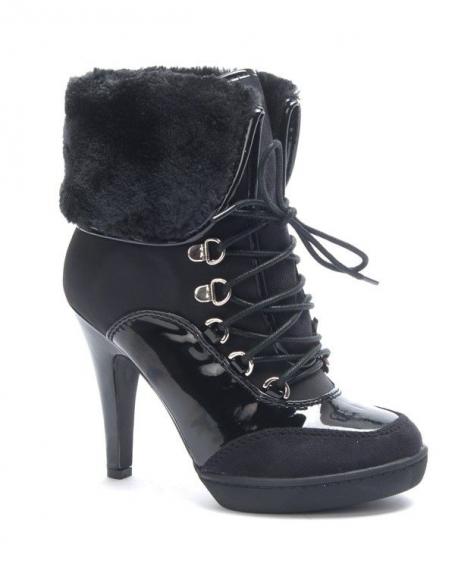 Chaussure femme Jennika: Botte fourré noire