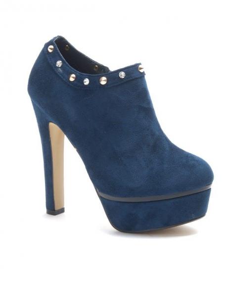 chaussure femme jennika bottine talon bleu. Black Bedroom Furniture Sets. Home Design Ideas