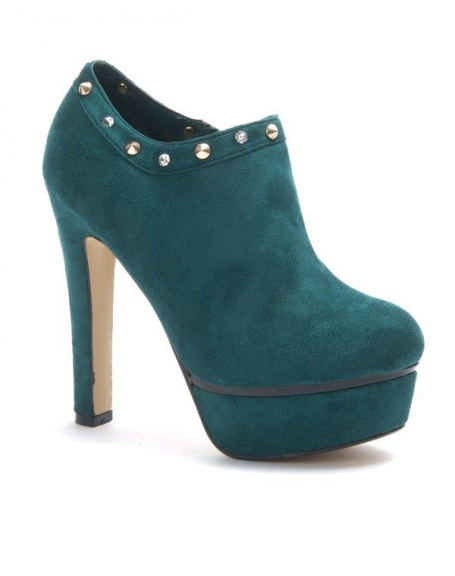 Chaussure femme Jennika: Bottine à talon vert
