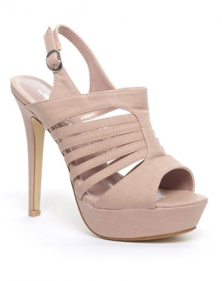 Chaussure femme Jennika: Escarpin ouvert rose