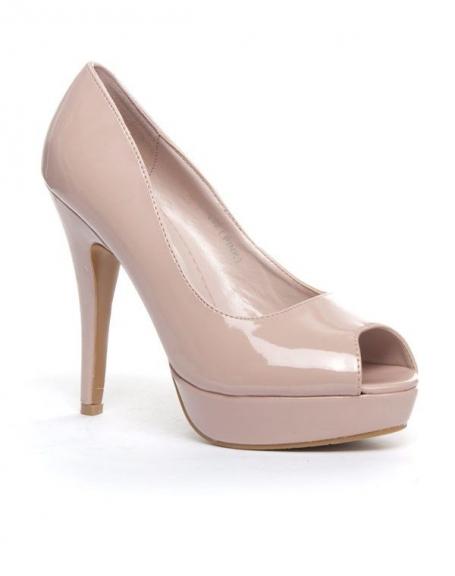 Chaussure femme Jennika: Escarpin ouvert rose (pâle)