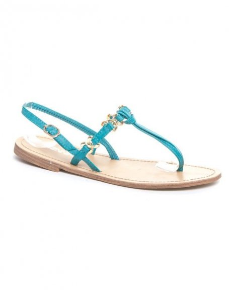 Chaussure femme Jennika: sandale bleue