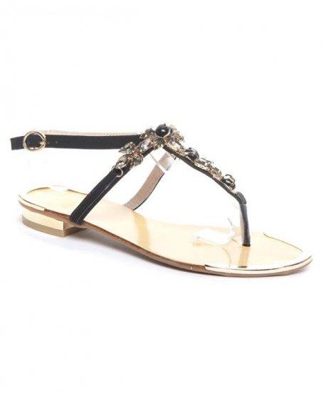 Chaussure femme Jennika: sandale noire
