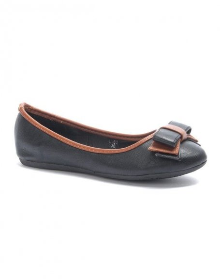 Chaussure femme Jolyvia: Ballerine avec noeud noire