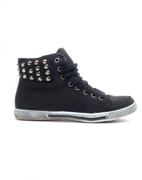 Chaussure femme Libra Pop: Basket clouté - noir