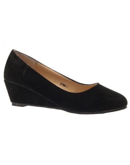 Chaussure femme Like Style: Escarpin compensé noir