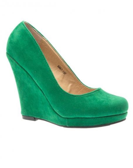 Chaussure femme Like Style: Escarpin compensé vert