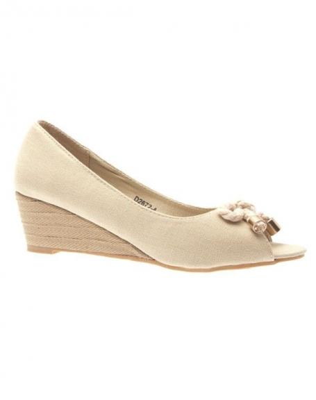 Chaussure femme Like Style: Escarpin ouvert beige