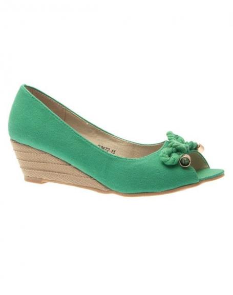 Chaussure femme Like Style: Escarpin ouvert vert