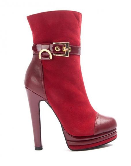 Chaussure femme Like You: Bottine à talon - bordeaux