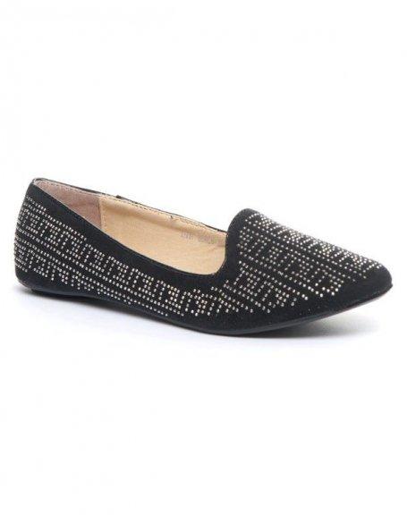 Chaussure femme Metalika: Ballerine cloutée noire