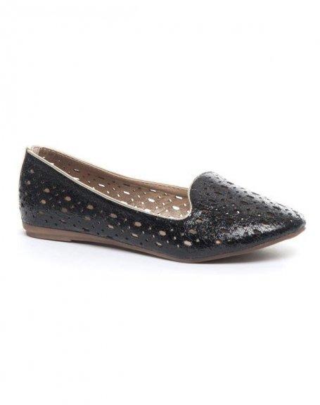 Chaussure femme Metalika: Ballerine noire