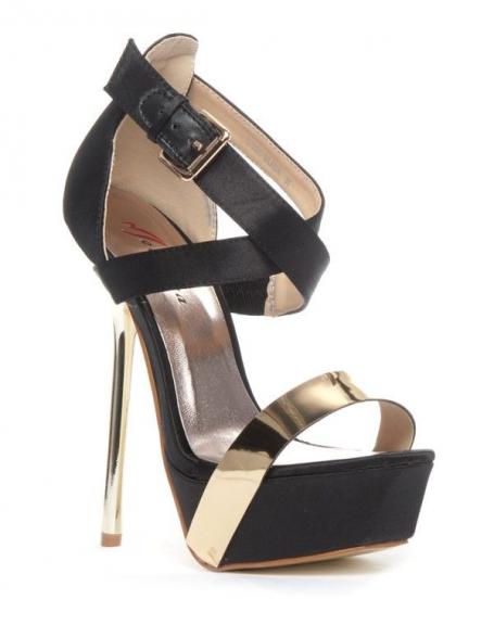 Chaussure femme Metalika: Escarpin ouvert noir