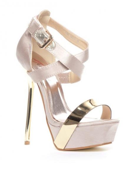 Chaussure femme Metalika: Escarpin ouvert or