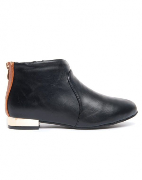 Chaussure femme noire à talon plat