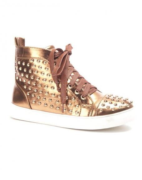 Chaussure femme Sergio Todzi: Basket clouté or/bronze