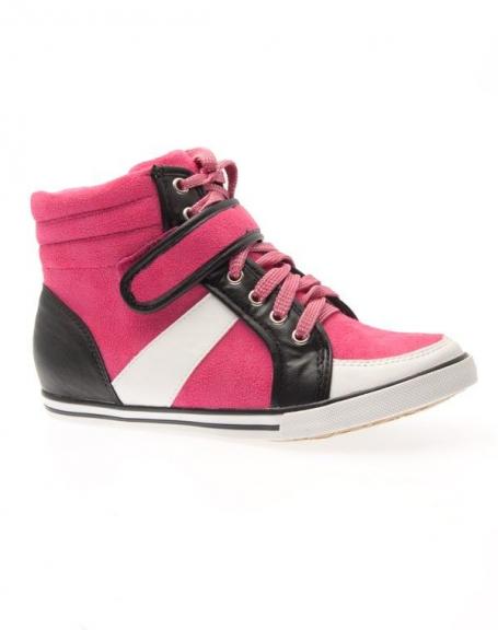Chaussure femme Sergio Todzi: Basket mi-montante fuchsia