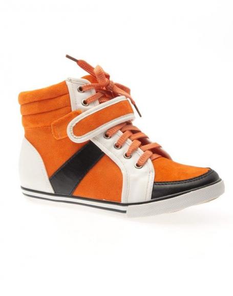 Chaussure femme Sergio Todzi: Basket mi-montante orange
