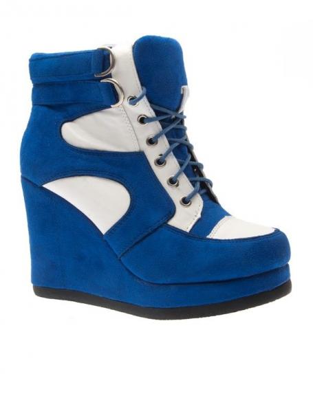 Chaussure femme Sergio Todzi: Basket montante bleue
