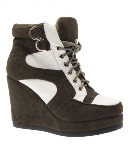 Chaussure femme Sergio Todzi: Basket montante kaki