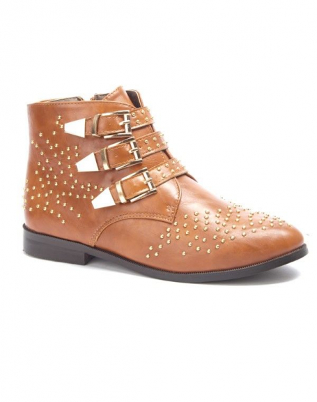 Chaussure femme Sergio Todzi: Bottines plates camel