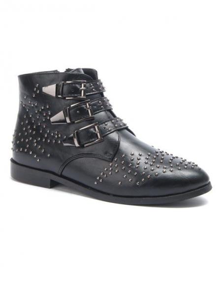 Chaussure femme Sergio Todzi: Bottines plates noires