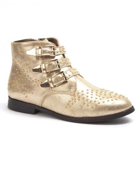 Chaussure femme Sergio Todzi: Bottines plates or