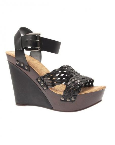 Chaussure femme Sergio Todzi: Escarpins compensés noirs
