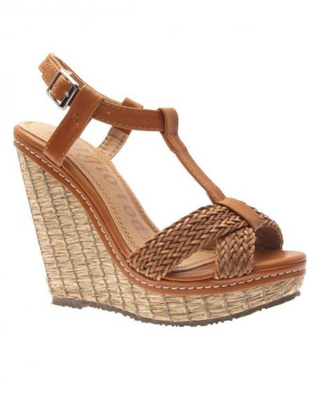 Chaussure femme Sergio Todzi: Escarpins ouvert camel