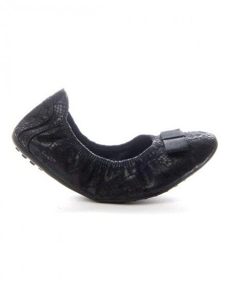 Chaussure femme Sinly: Ballerine flexible - noir